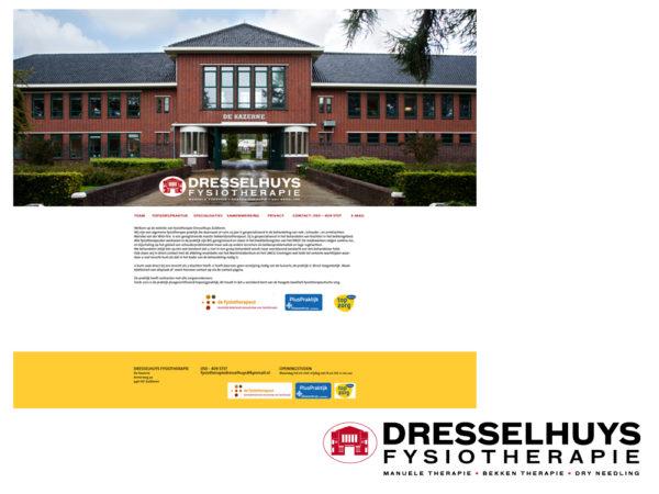 Logo en website ontwerp Dresslhuys Fysiotherapie